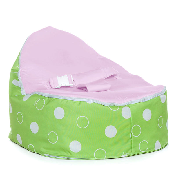 Green Polka Baby Bean Bag - Grape