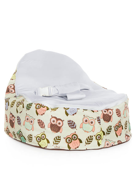 Chibebe Hoot Style Baby Bean Bag with Blue Baby Seat