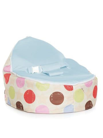 Chibebe Liberty Style Baby Bean Bag with Blue Baby Seat