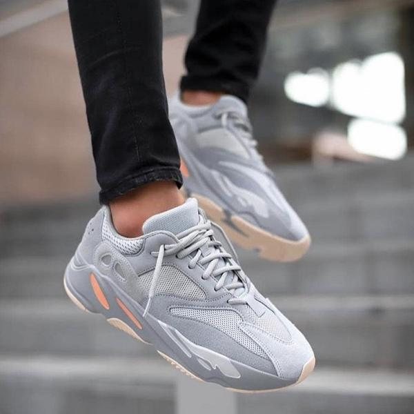 adidas yeezy 700 mauve on feet