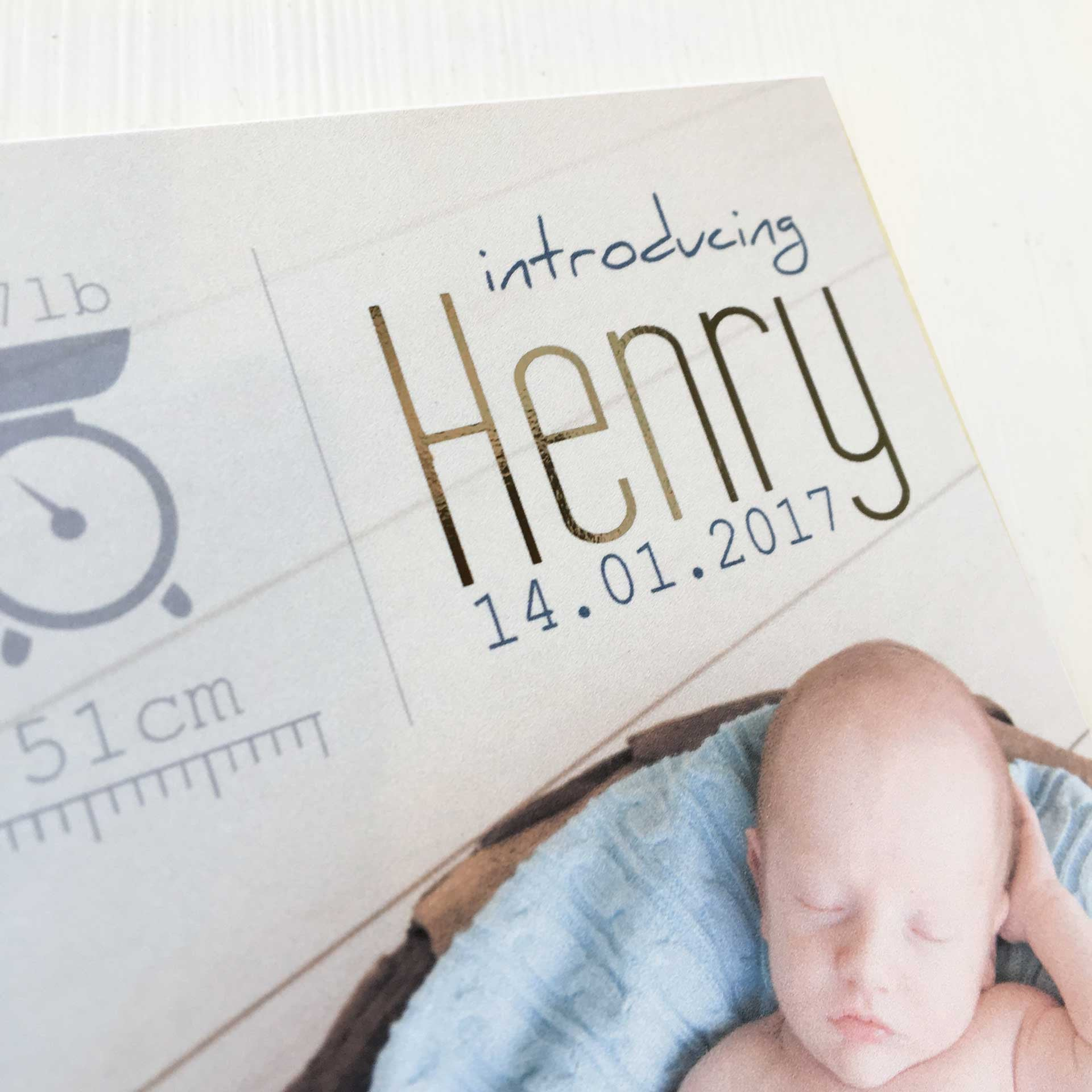 Henry Delux Baby Announcement