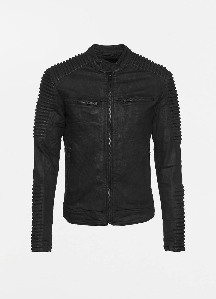 leather jacket men Blake black denim be edgy 2