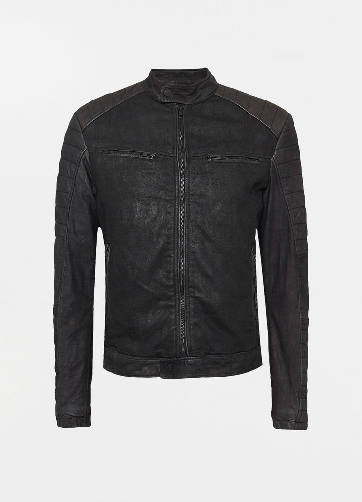 BEandy Denim Leather - black - BE EDGY Berlin