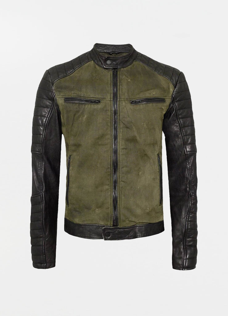 BEandy Denim Leather - khaki - BE EDGY Berlin