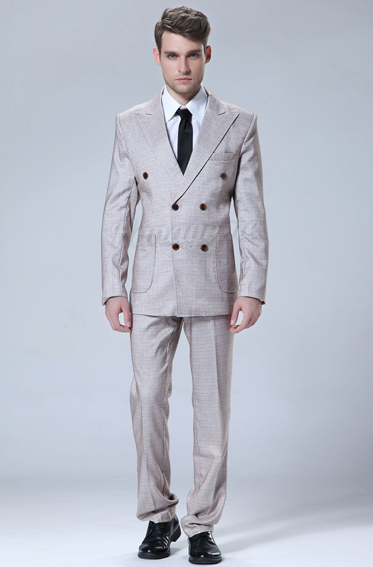 The Grey Double Breasted Suit (3 Piece outfit)