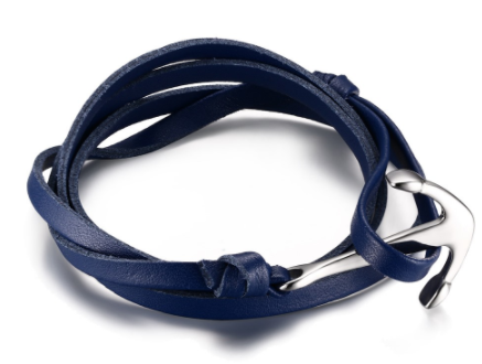 The Sea Anchor Blue leather