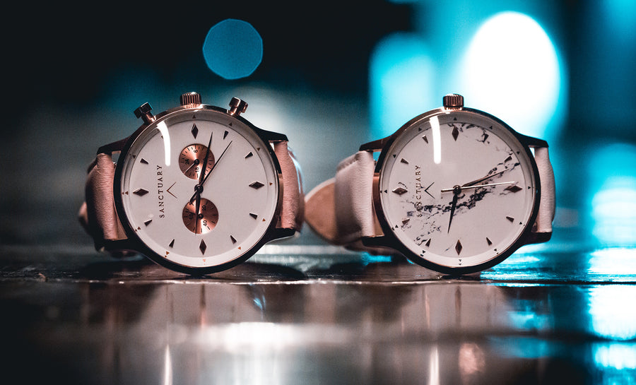 Davos White Classic / Rose Gold & White Watch