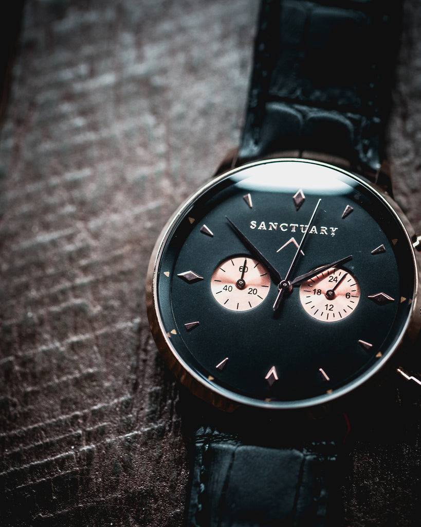 The Pharmacist / Rose Gold & Black Luxury Watch