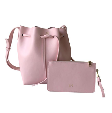 The Madison Smooth Candy Pink Leather Bucket Bag