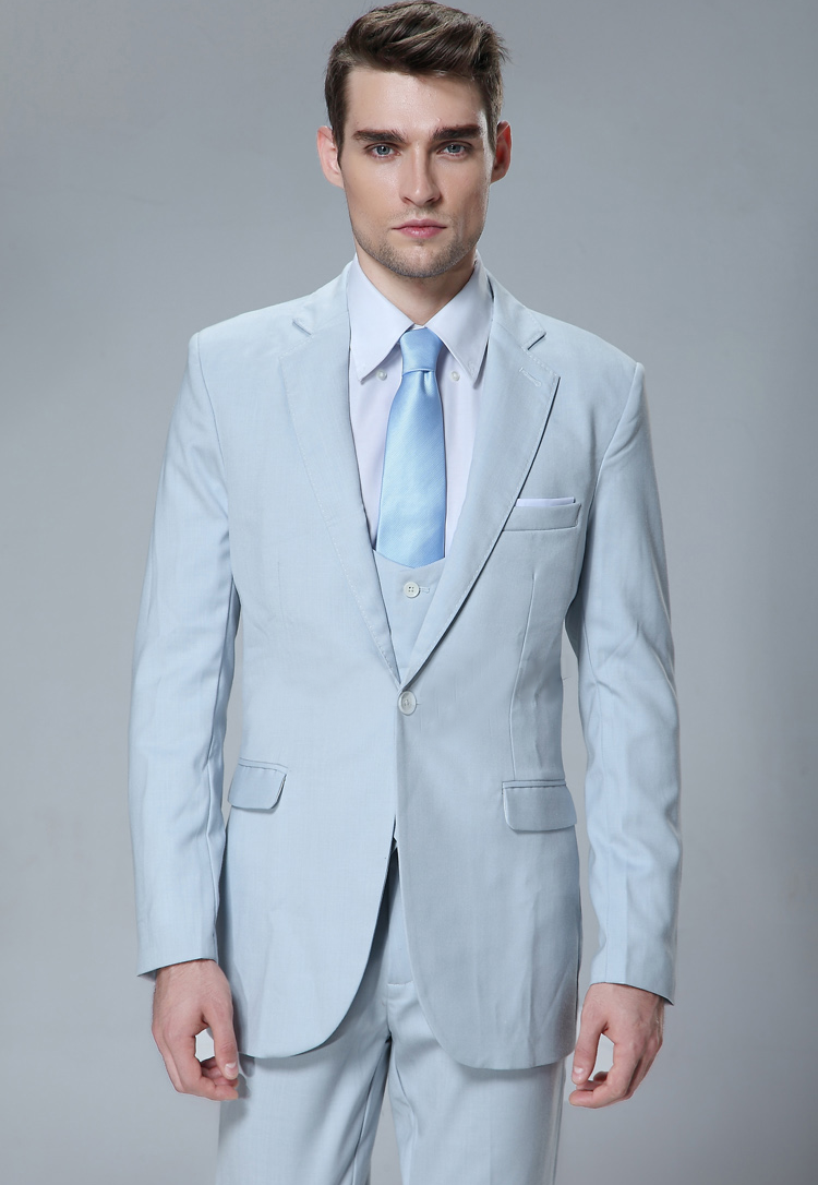 Ultra Blue Blazer Suit Vest & Trousers (3 piece Outfit)