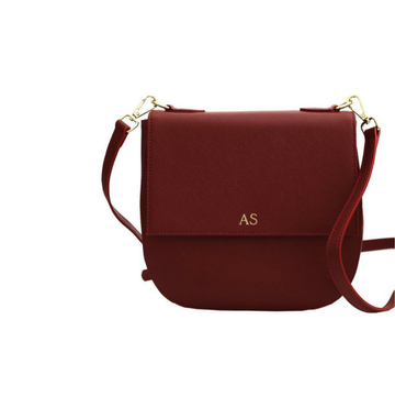 The Thornbury Burgundy Crossbody Messenger Bag