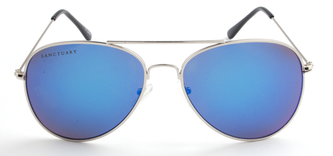 Oceanographer / Mirror Blue Reflective Aviator Frames