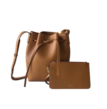 The Smooth Tawny Brown Leather Bucket Bag