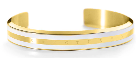 Sanctuary Classic Gold & White Bracelet