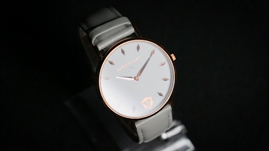 The Allure / Rose Gold & White Minimal Swiss Watch