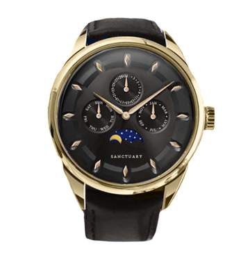 The Colosseum - Black & Gold Moonphase Chronograph