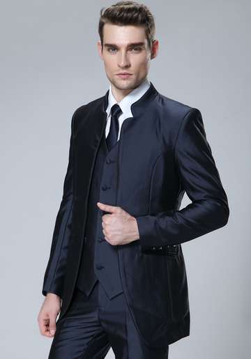 Spectre Slim Fit Blazer  Vest & Trousers (3 Piece Outfit)