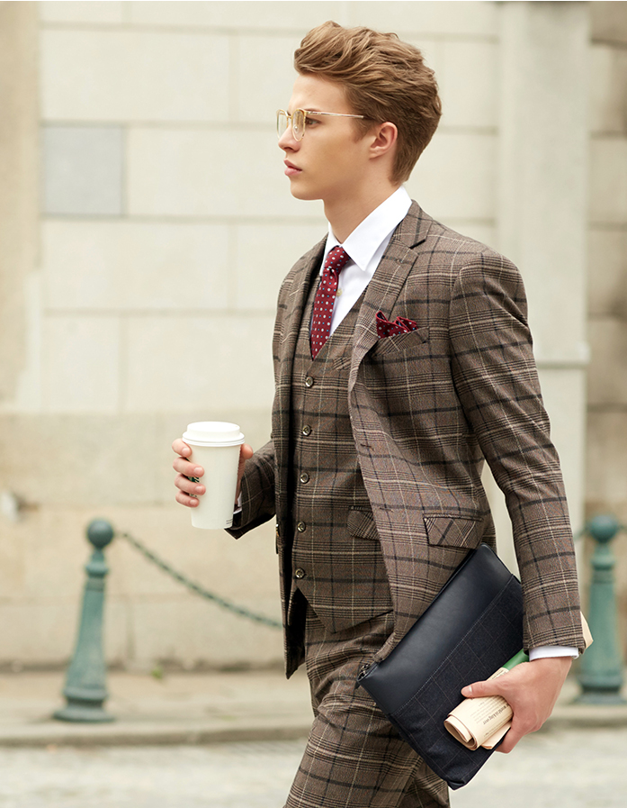 British Pattern Blazer, Vest & pants (3 piece outfit)