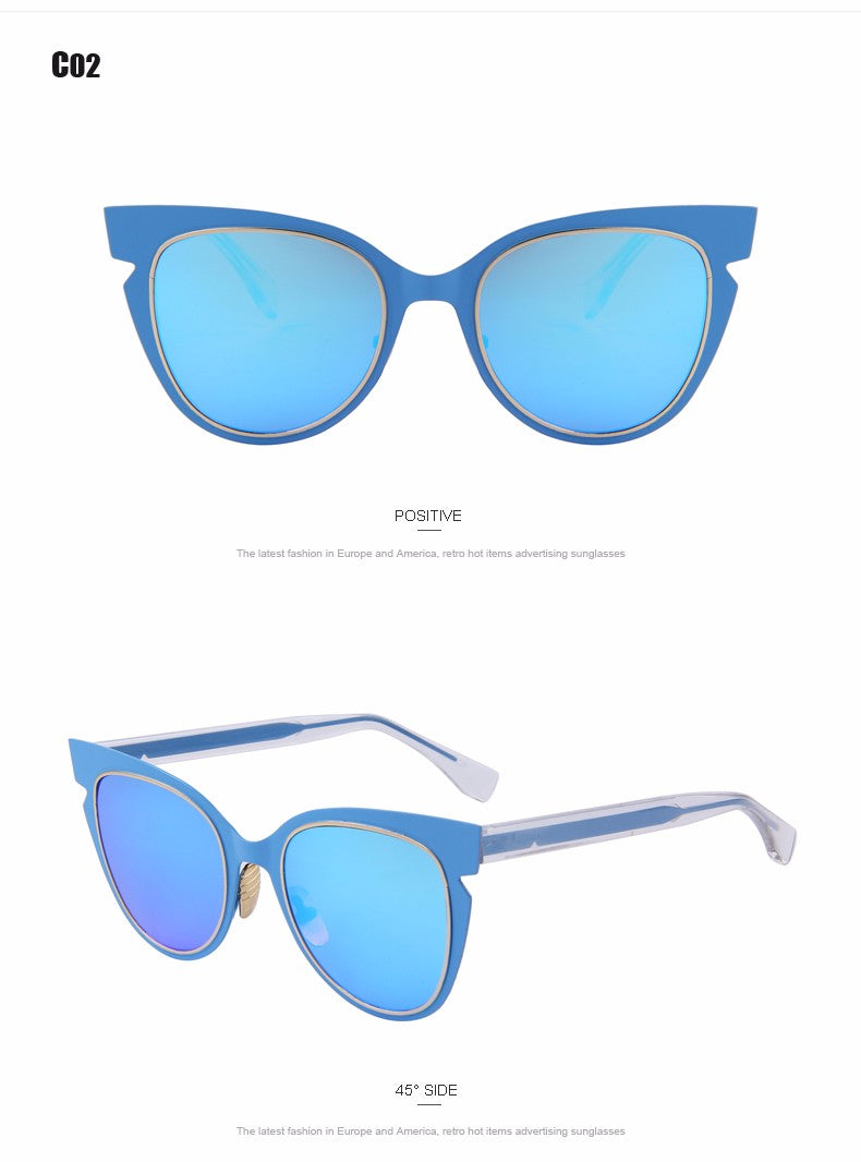 The Flare Gradient Blue Cat Eyes Women Sunglasses