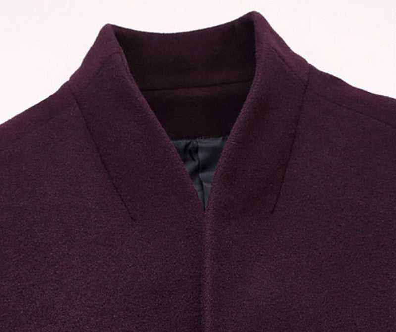 HG Woolen Coat Winter Silk Blend