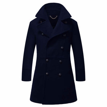 HG NewYork Winter Coat Double Woolen Trench Coat