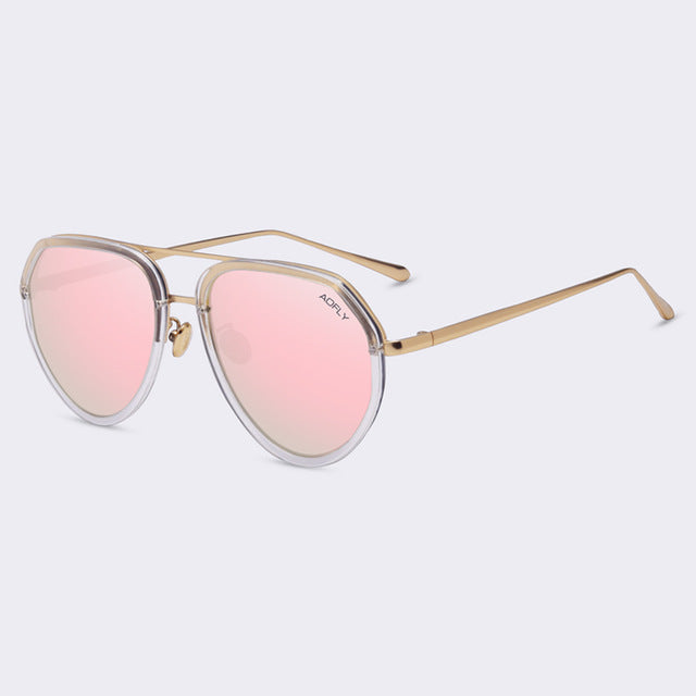 Super Pink T.O.P Aviation Polarized Sunglasses Polaroid Sun glasses