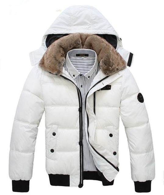 Thick Warm Men Winter Puffer Parka Coat
