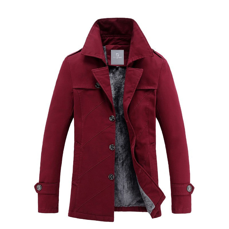 HG Winter Button Coat With Internal Fur