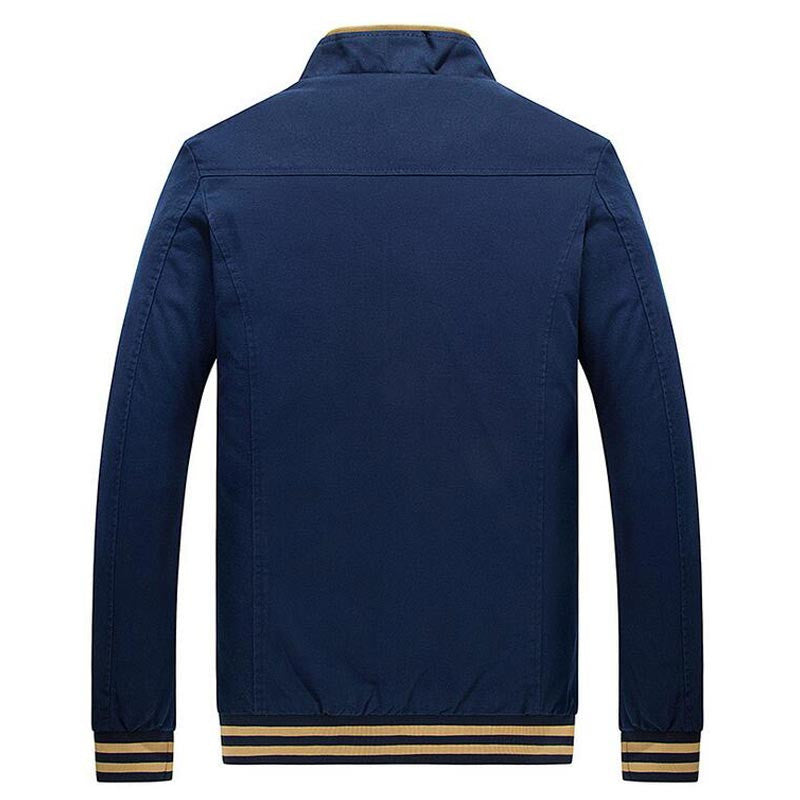 HG Men's Warm Bomber Jacket With Striped Bottom
