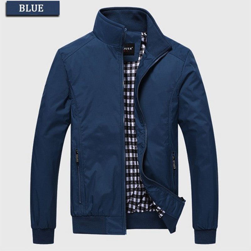 Rain Resistant Collared Overcoat