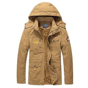 HG Super Cotton Thick Parkas Collar Jacket With Fur Inside