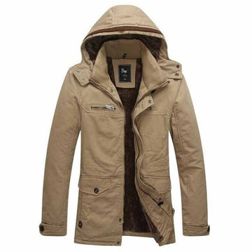 HG House Zipped Jacket With Woolen Hood