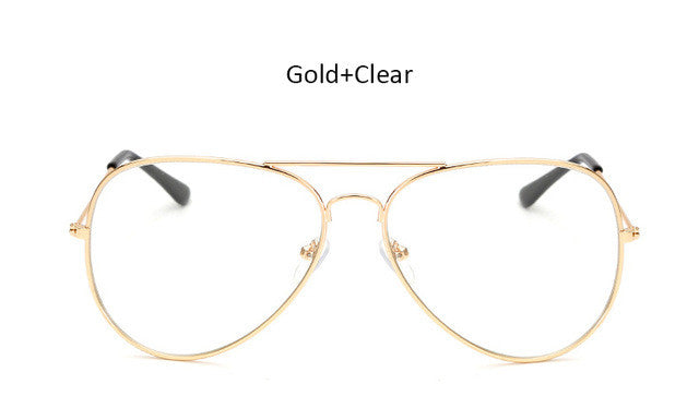 The One Clear- Gold Aviator Sunglasses