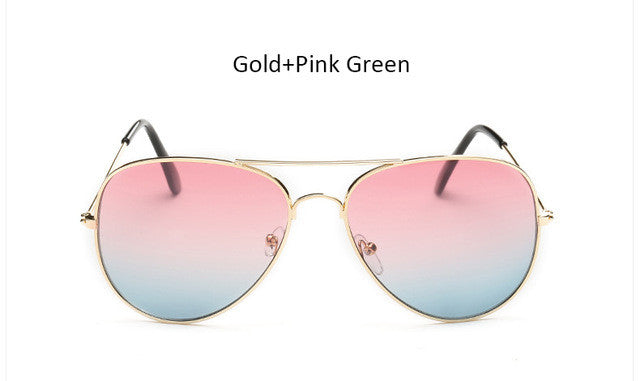 The One Gradient Gold-Pink Aviator Sunglasses