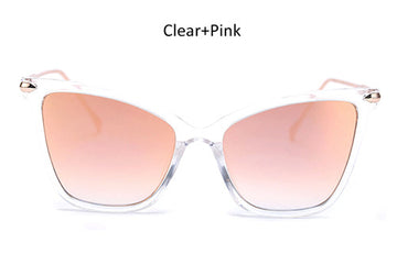 Classic Vintage Cat Eye Sunglasses With Variety Mirror Lens