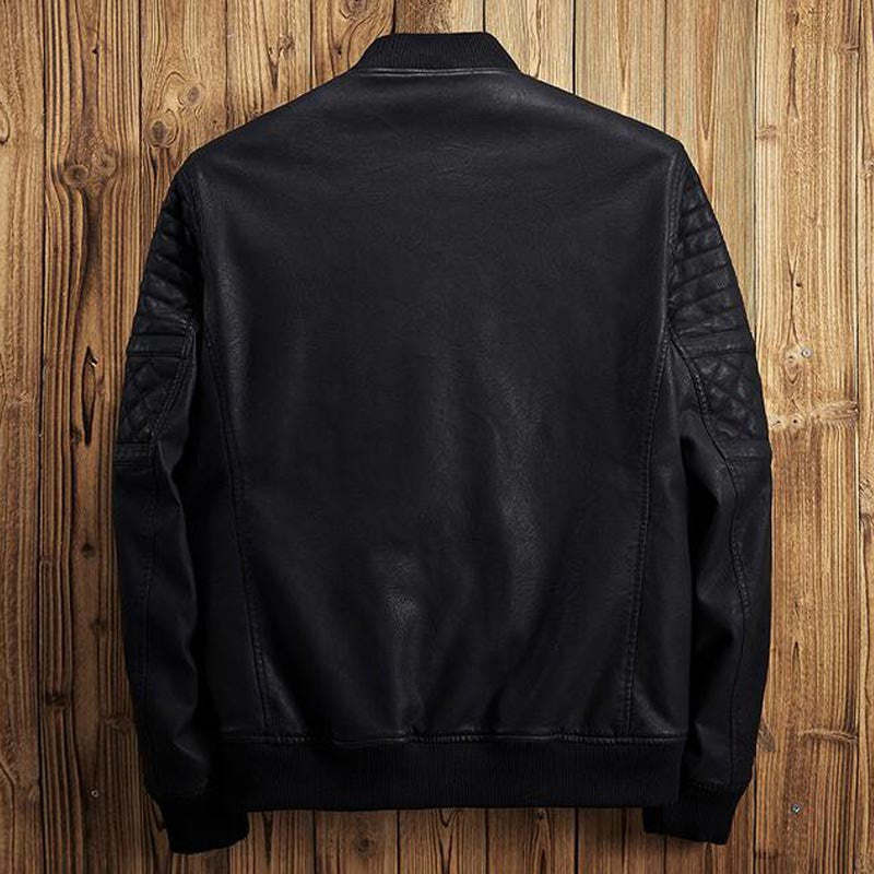 HG Black Leather Bomber Jacket With Internal Super Warm Fur