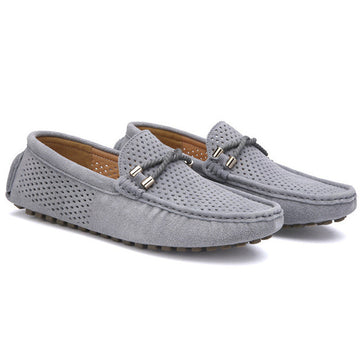 Leather mocassin soft breathable men flats brand shoes suede loafers