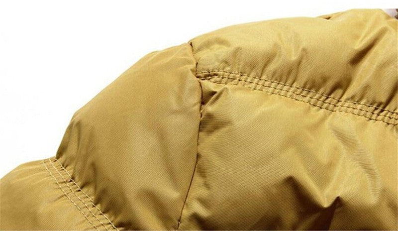 HG Cotton Padded Puffer Overcoat With Hood