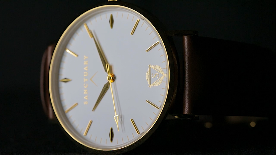The Classic Millennium / Gold & White Minimal Swiss Watch