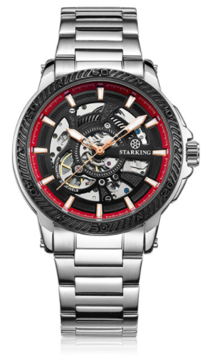Sanctuary Watches - SK Swiss Automatic Black Tornado Mechanical Skeleton Watch