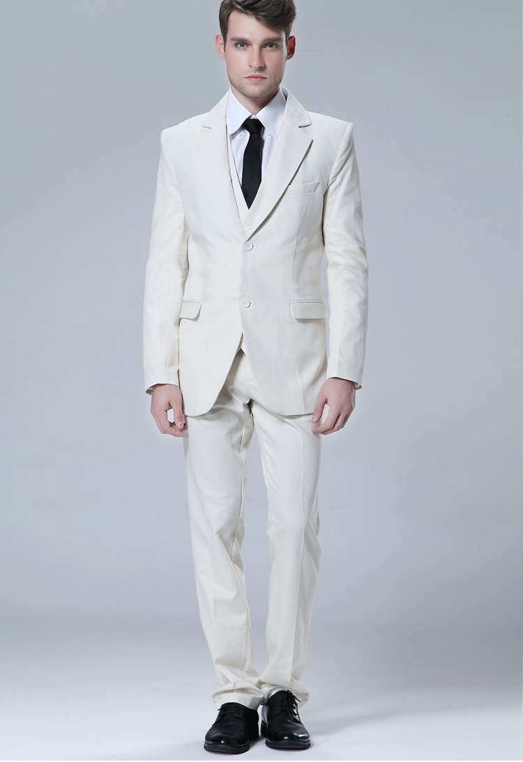 White Slim Fit Blazer  Vest & Trousers (3 Piece Outfit)