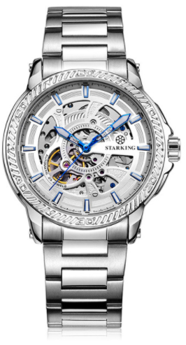 Sanctuary Watches - SK Swiss Automatic White Tornado Mechanical Skeleton Watch