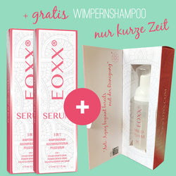 2x Wimpernserum EOXX SERUM (3ml) + GRATIS Wimpernshampoo EOXX MILD FOAM (50ml)