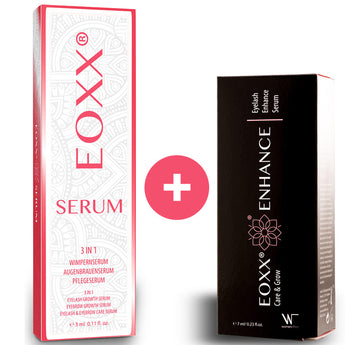 1x EOXX SERUM Wimpernserum & Augenbrauenserum + 1x EOXX ENHANCE Wimpernserum sensitiv (1x 3ml + 1x 7ml)
