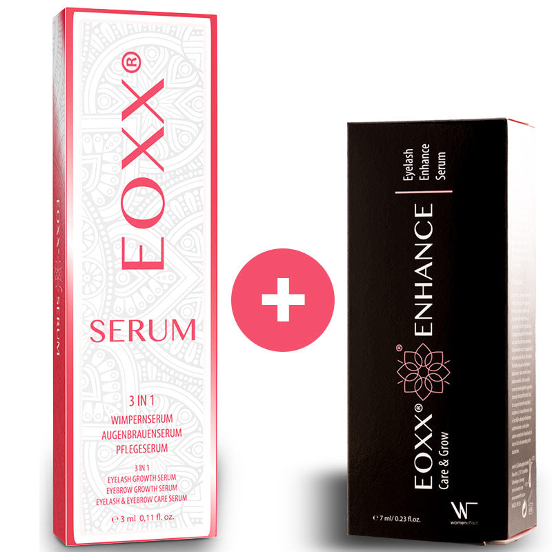 1x EOXX SERUM Wimpernserum & Augenbrauenserum (3ml) + 1x EOXX ENHANCE Wimpernserum sensitiv (7ml)