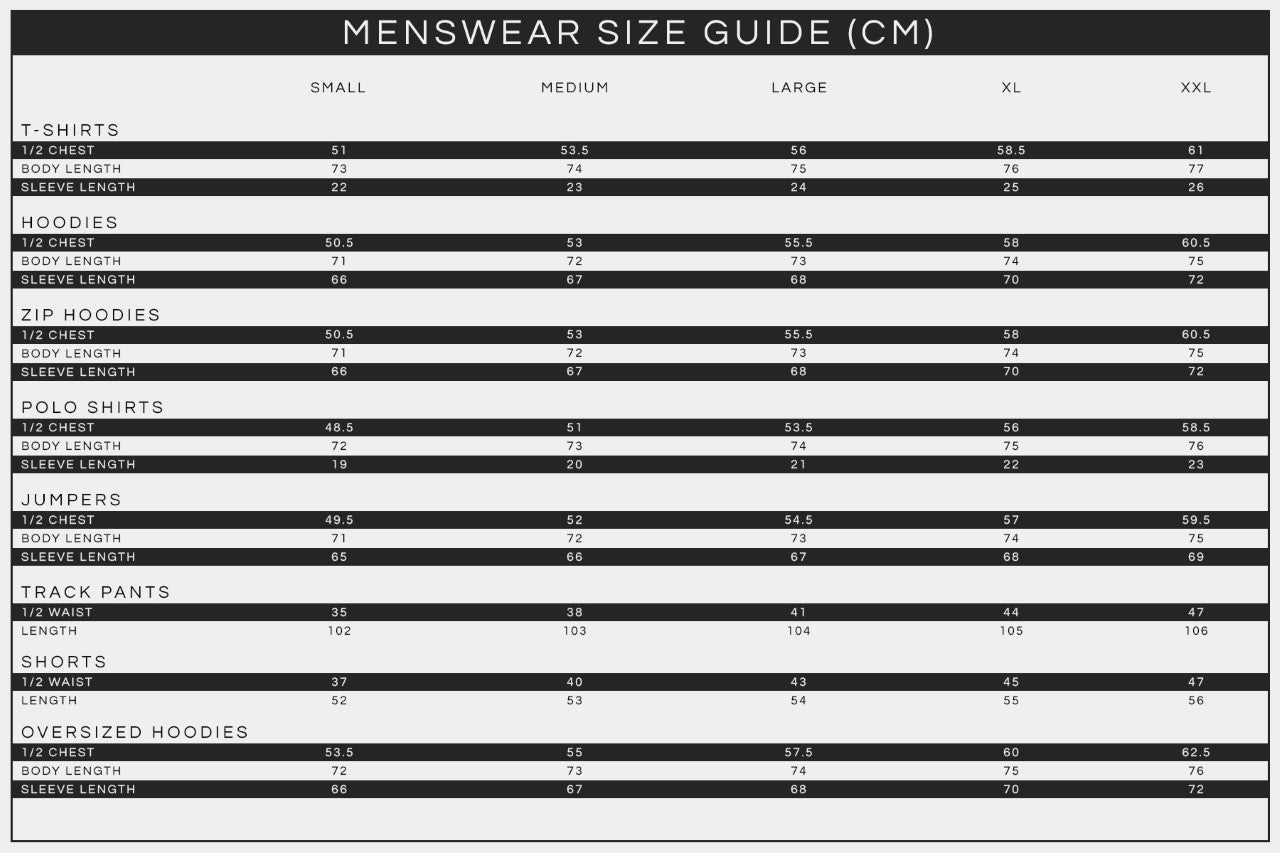 MENS SIZE GUIDE