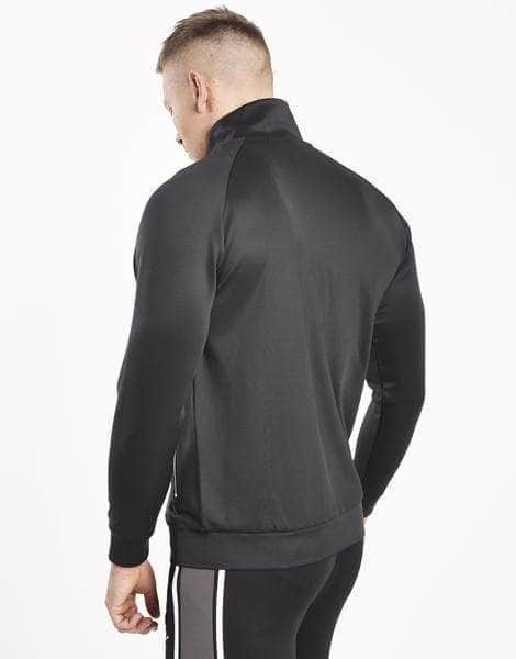 Abbots Poly Tracksuit Zip Jacket - Black