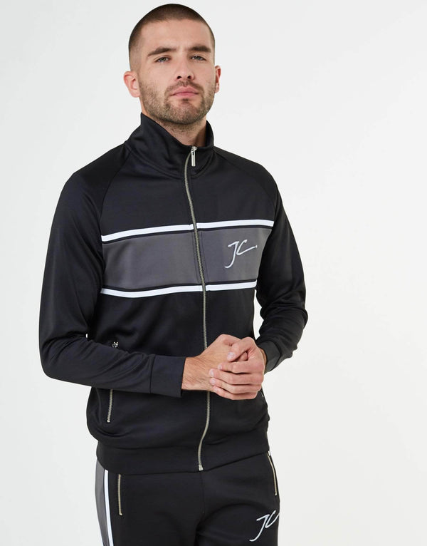Jameson Carter Hoodies, sale Abbots Poly Tracksuit Zip Jacket - Black