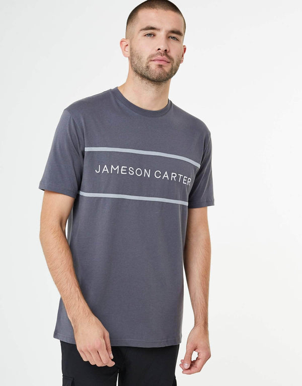 Addison T Shirt - Carbon & Silver