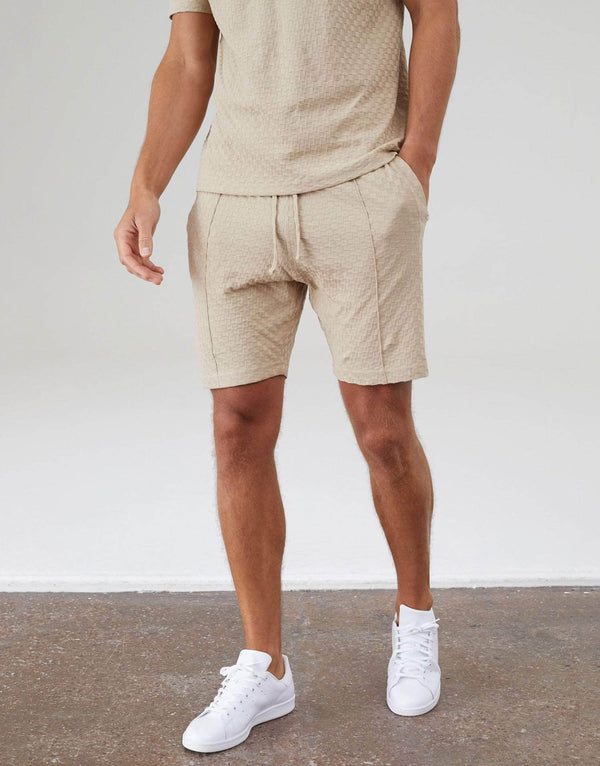 Ainsdale Twin Set Shorts - Stone